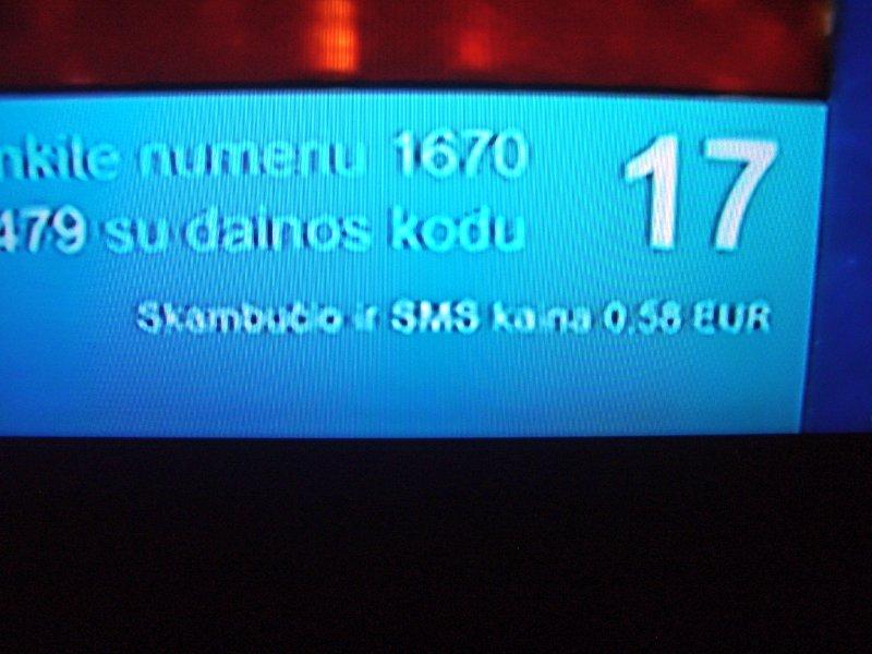 Skambučio ir SMS kaina 0,58 EUR - Lietuvoje