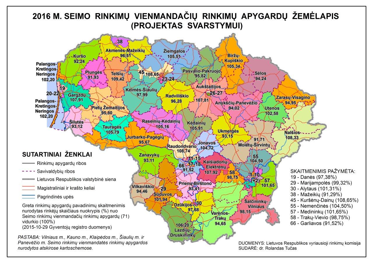 Šiaulių kaimiškosios rinkimų apygardos Nr. 45 nebeliko! Šaltinis: VRK